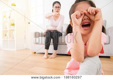 Lovely Asian Female Children So Sad To Crying