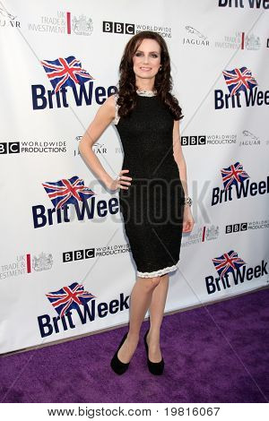 LOS ANGELES - APR 26:  Victoria Summer arriving at the 5th Annual BritWeek Launch Party at British Consul General's residence on April 26, 2011 in Los Angeles, CA..