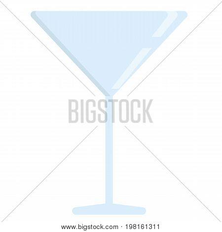 Martini glass flat icon, vector sign, colorful pictogram isolated on white. Symbol, logo illustration. Flat style design