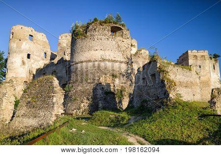 Ruins of Lietava castle in Sulov mountains Slovakia