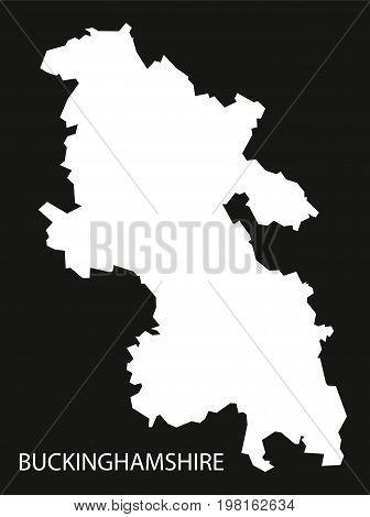 Buckinghamshire England Uk Map Black Inverted Silhouette Illustration
