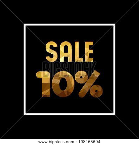 Sale 10% Off Gold Quote For Business Discount