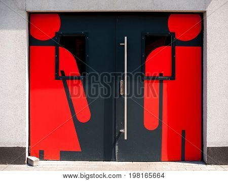 Doors To The Toilet With Signs Of Male And Female