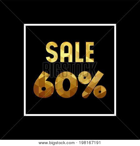 Sale 60% Off Gold Quote For Business Discount