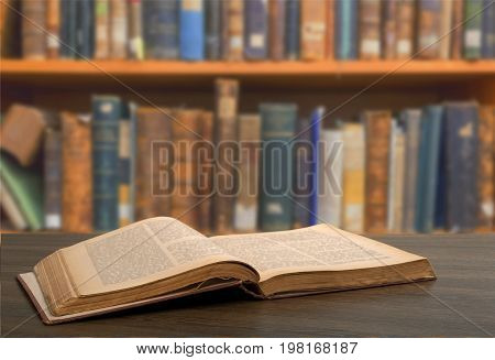 Book holy bible table background light wooden