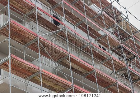 Extensive Scaffolding On  Building 2
