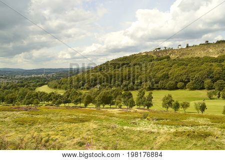 A view of Glossop golf course in the Peak District national park