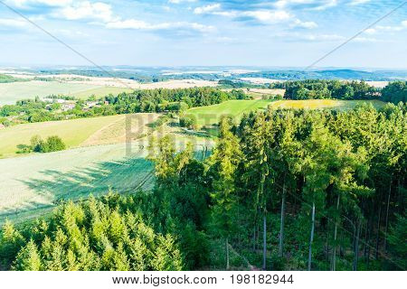 The View Of Czech Rural Country From Above