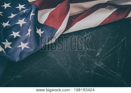 American flag for Memorial Day 4th of July or Labour Day