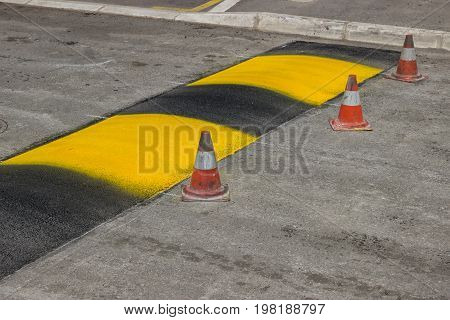 Just Painted Stripes On A Speed Bump 2