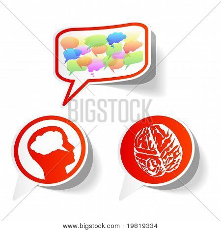 Vector Thought Stickers