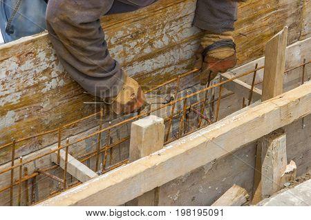 Preparing Form For Concrete