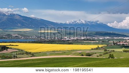 Spring country and hill Krivan in Slovakia