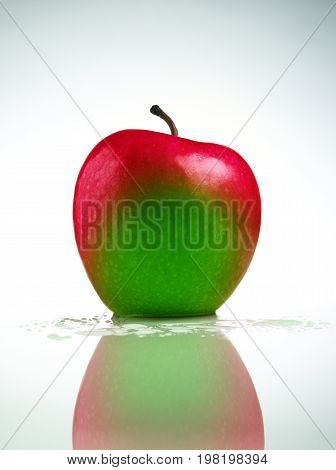 A Red Apple with Green Spot (Digitally Enhanced)