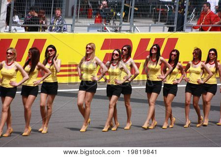 Formula 1 Gp Grid Girls Before Race