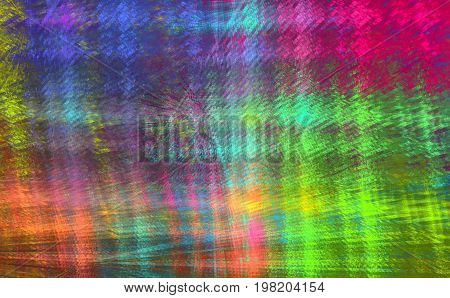 Iridescent checkered fractal pattern for a skirt plaid bandanna. Abstract background.