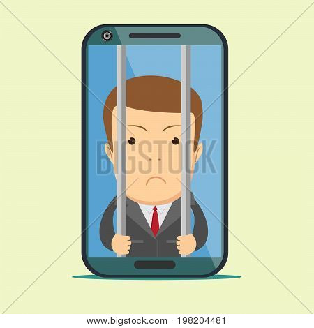 Vector crime and punishment law and order social flat icons set