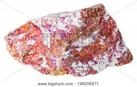 Raw Red Chalcopyrite Stone Isolated