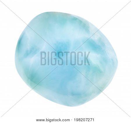 Tumbled Larimar Gem (blue Pectolite)