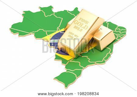 Foreign-exchange reserves of Brazil concept 3D rendering isolated on white background