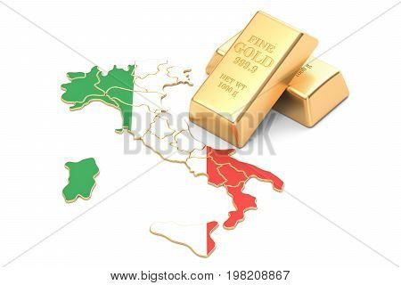 Foreign-exchange reserves of Italy concept 3D rendering isolated on white background