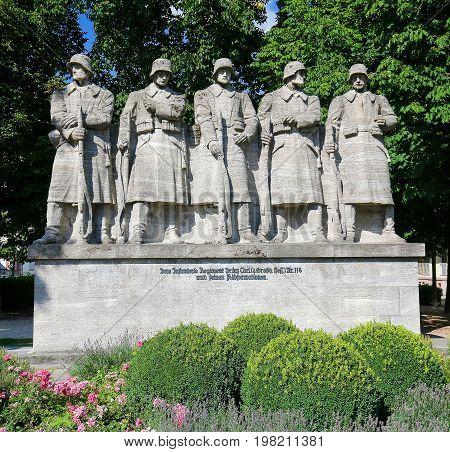 War Memorial In Worms, Germany