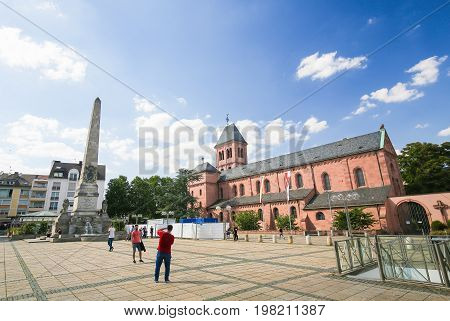 St Martin's Church In Worms, Germany