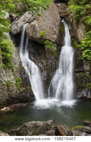 Spring time at Bash Bish Falls located in Mass