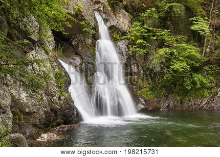Bash Bish Falls during spring located in Mass