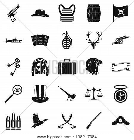 Slug icons set. Simple set of 25 slug vector icons for web isolated on white background