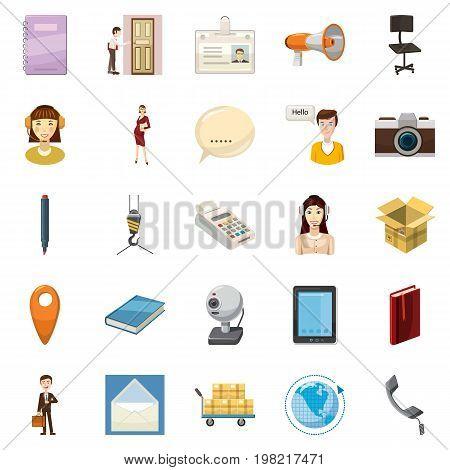 Transportation of money icons set. Cartoon set of 25 transportation of money vector icons for web isolated on white background