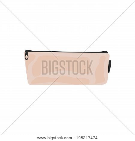 Pencil case icon in flat style for web and creative design. Vector illustration. Isolated on white