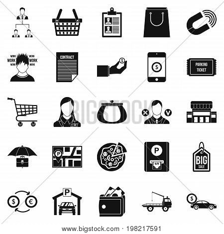 Outlay icons set. Simple set of 25 outlay vector icons for web isolated on white background