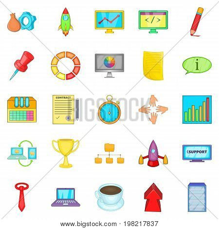Conglomerate icons set. Cartoon set of 25 conglomerate vector icons for web isolated on white background