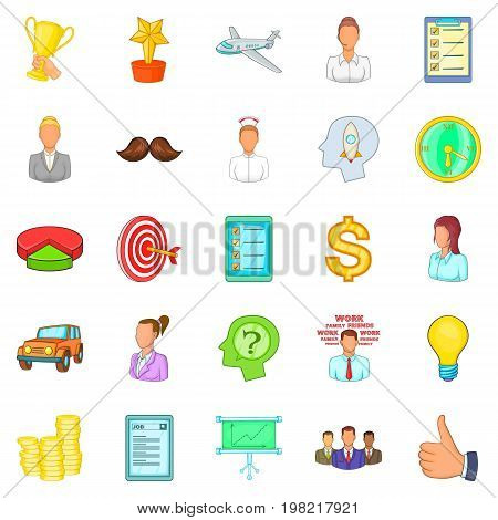 Banker icons set. Cartoon set of 25 banker vector icons for web isolated on white background