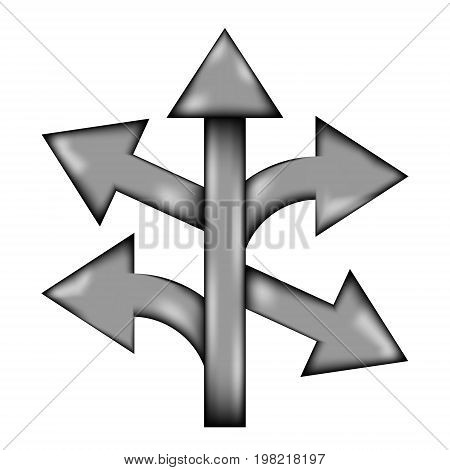 Straight left and right arrow sign icon on white background. Vector illustration.