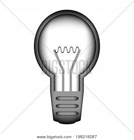 Light bulb sign icon on white background. Vector illustration.