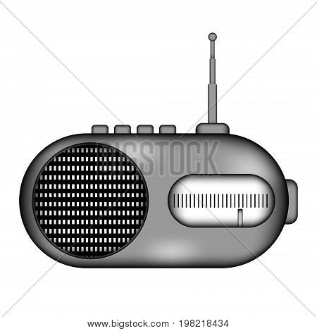 Radio sign icon on white background. Vector illustration.
