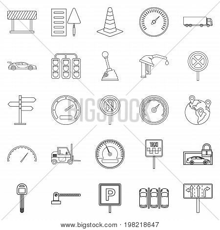 Mover icons set. Outline set of 25 mover vector icons for web isolated on white background