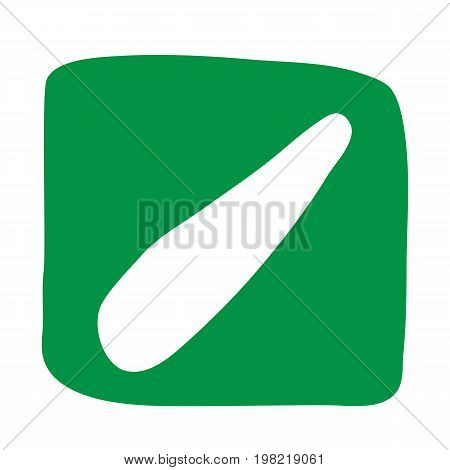 Zucchini icon in flat style. Z - Zucchini. Vector illustration for print cards and creative design