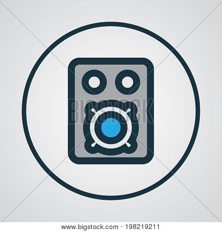 Premium Quality Isolated Speaker Element In Trendy Style.  Amplifier Colorful Outline Symbol.