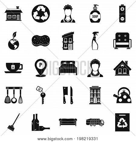 Purification icons set. Simple set of 25 purification vector icons for web isolated on white background