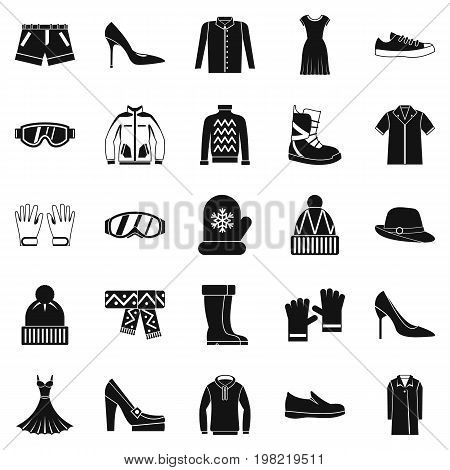 Clothing sale icons set. Simple set of 25 clothing sale vector icons for web isolated on white background