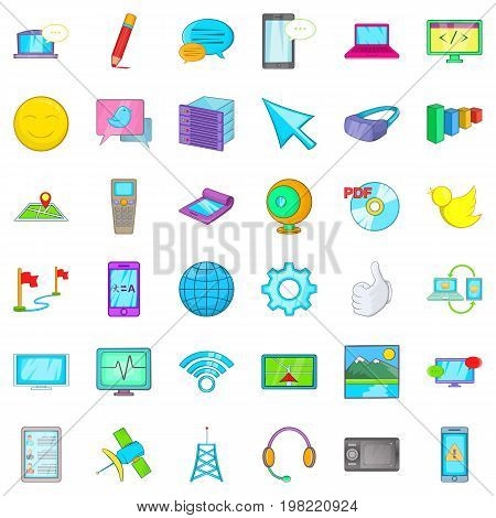 Computer mouse icons set. Cartoon style of 36 computer mouse vector icons for web isolated on white background
