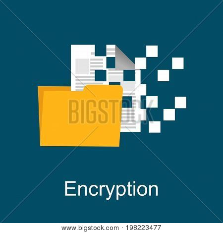 File encryption. File protection. Secure data. Data protection