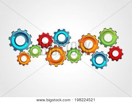 Mechanism concept illustration. Cogwheel gear mechanism concept illustration.