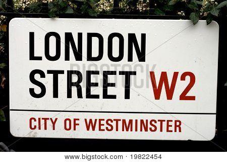 London Street Sign.
