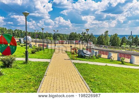Key kamyshinskoe plateau Novosibirsk Siberia Russia - August 2 2017: the Large Novosibirsk planetarium. Parkland planetarium free visit