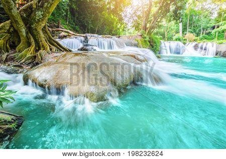 Waterfalls Namtok Chet Sao Noi at Saraburi Thailand