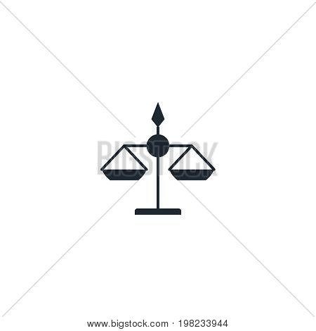 Libra silhouette  icon. High quality black outline Logo for web site design and mobile apps. Vector illustration on a white background.